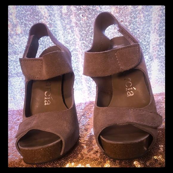 8e493436e7749 Pedro Garcia Shoes   Pedro Gracia Womens Tan Suede High Heel Sandal ...